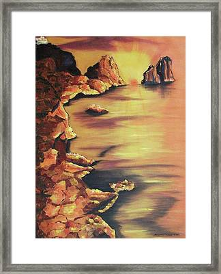 Fraglious Rocks Framed Print by Suzanne  Marie Leclair