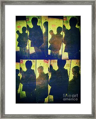 Fragment 4 Father And Child Framed Print by Jeff Breiman