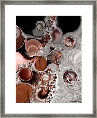 Fragment Of Modern Contrast Framed Print
