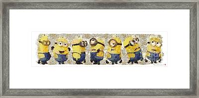 Fragmented And Still In Awe Congratulations Minions Framed Print