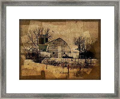 Fragmented Barn  Framed Print by Julie Hamilton