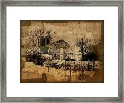 Fragmented Barn  Framed Print