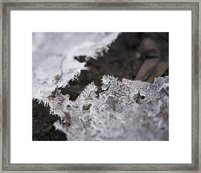Fragmented Ice Framed Print