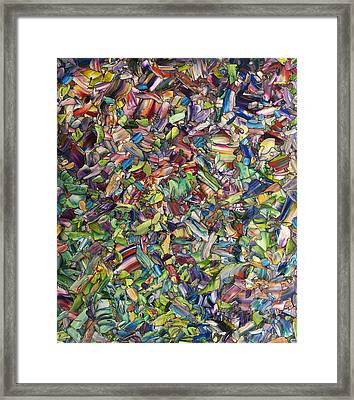 Framed Print featuring the painting Fragmented Spring by James W Johnson