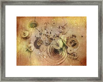 Fragmented Time Framed Print by Michal Boubin