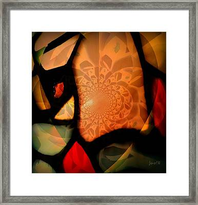 Fragments From A Glass Heart Framed Print by Fania Simon