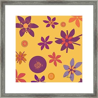 Fragrant Folly Orange Framed Print by Ruth Palmer