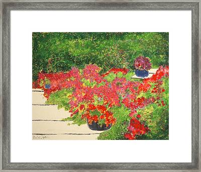 Fragrant Garden Framed Print
