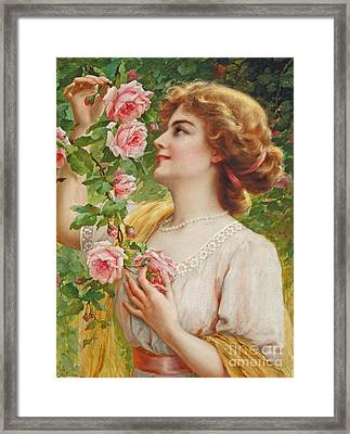 Fragrant Roses Framed Print by Emile Vernon