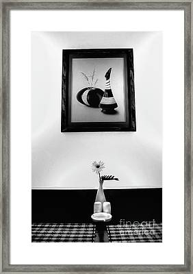 Frame And Flower Framed Print by Charuhas Images