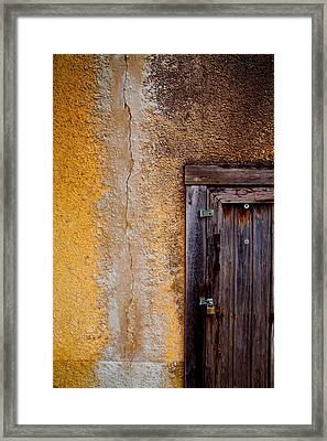 Frame And Seam Framed Print by Shonnon Gourley