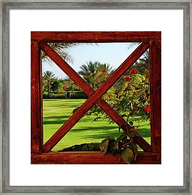 Frame I Framed Print by Chaza Abou El Khair