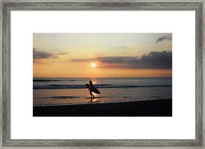 Framed By The Sun  Framed Print