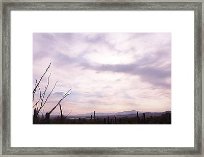 Framed Cloud Framed Print