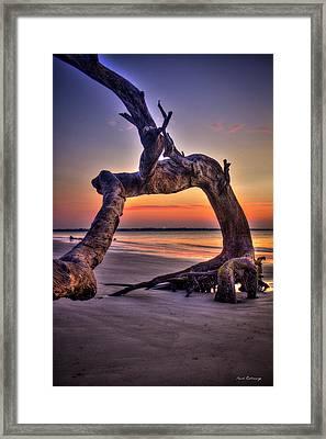 Framed Driftwood Beach Jekyll Island St Simons Island Art Framed Print