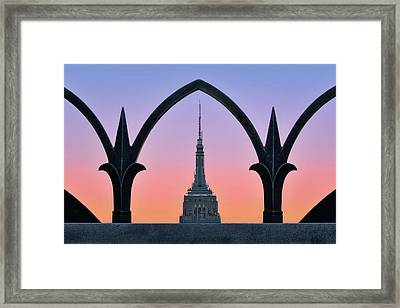 Framed Empire State Building Esb Nyc Framed Print by Susan Candelario