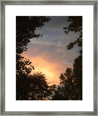 Framed Print featuring the photograph Framed Fire In The Sky by Sandi OReilly