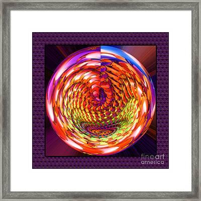 Framed Glass Spiral Framed Print