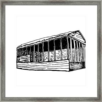 Framed House Framed Print by Karl Addison