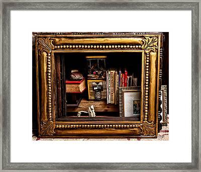 Framed Odds And Ends Framed Print by Christopher Holmes