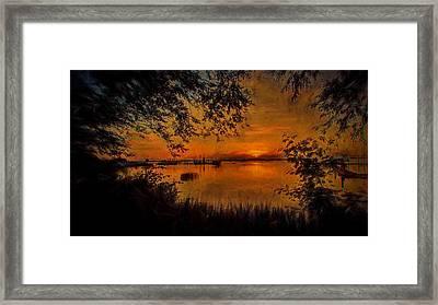 Framed Sunset Framed Print