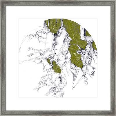 Frames In Gold Foil Framed Print by Bodhi