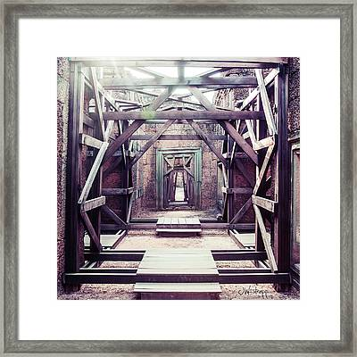 Framed Print featuring the photograph Framework by Joseph Westrupp