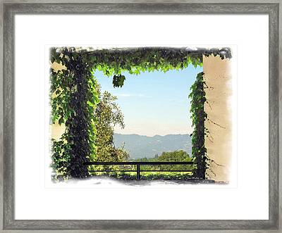Framed Print featuring the photograph Framing Napa Valley by Joan  Minchak