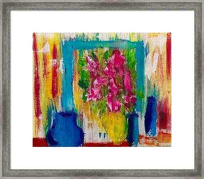 Framing Petals Framed Print by Eve Schambach