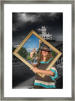 Framing The Future Framed Print by John Haldane