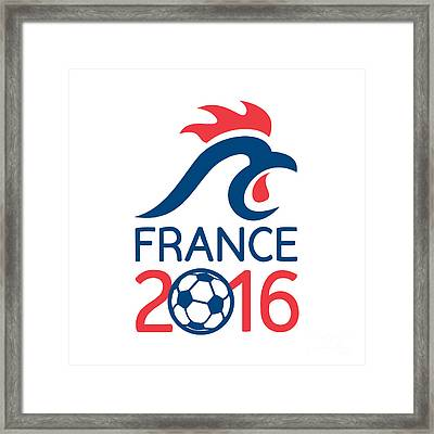 France 2016 Europe Football  Championships Framed Print by Aloysius Patrimonio