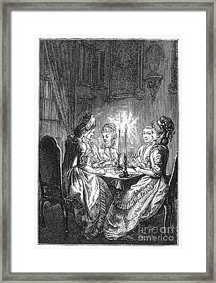 France: Card Players Framed Print by Granger