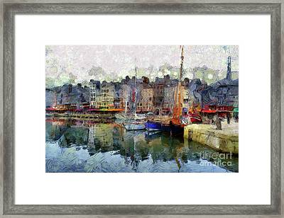 Framed Print featuring the photograph France Fishing Village by Claire Bull
