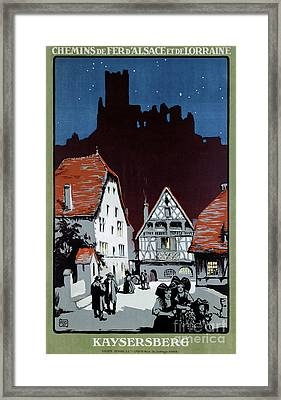 France Kaysersberg Restored Vintage Travel Poster Framed Print