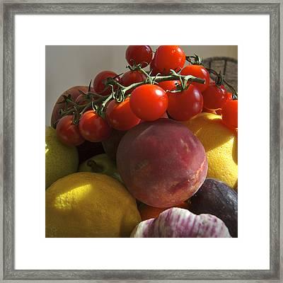 France, Paris Fruits And Vegetables Framed Print by Keenpress