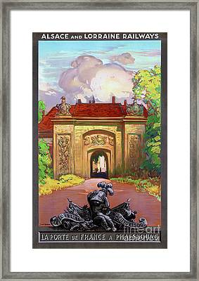 France Phalsbourg Restored Vintage Travel Poster Framed Print