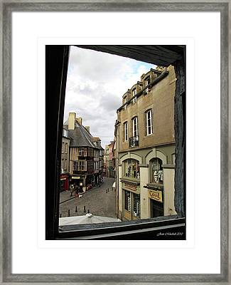 France Thru A Window Framed Print