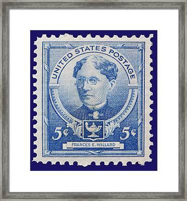 Frances E Willard Postage Stamp Framed Print by James Hill