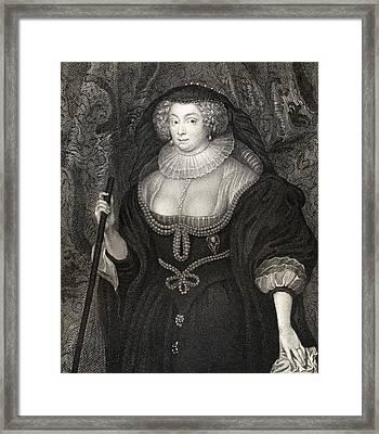 Frances Howard Duchess Of Richmond Framed Print by Vintage Design Pics