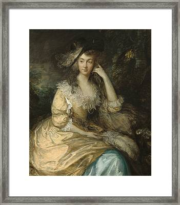 Frances Susanna Lady De Dunstanville Framed Print by Thomas Gainsborough