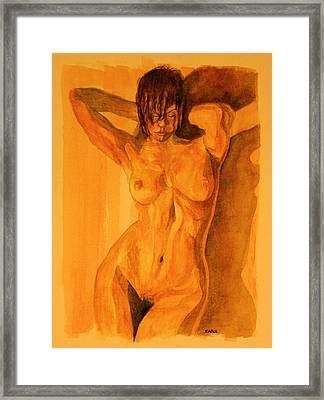 Francesca Framed Print by Dan Earle