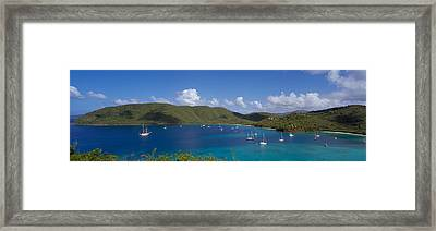 Francis And Maho Bays Virgin Islands Framed Print by Panoramic Images