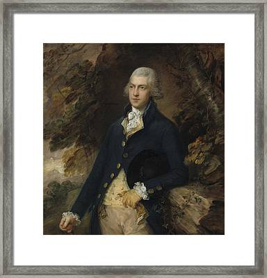 Francis Bassett Lord De Dunstanville And Bassett Framed Print by Thomas Gainsborough