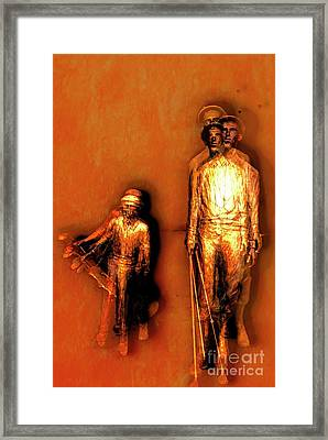 Francis D. Ouimet And Caddy Framed Print