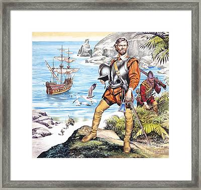 Francis Drake And The Golden Hind Framed Print