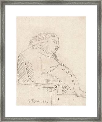 Francis Grose Asleep In A Chair Framed Print