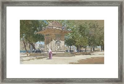 Francis Hopkinson Smith ,the Temple Of Sweet Water, Turkey Framed Print