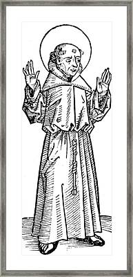 Francis Of Assisi  Framed Print by German School