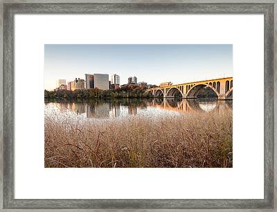 Francis Scott Key Bridge Arlington Virginia Potomac River Reflections Framed Print