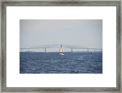 Francis Scott Key Bridge - Baltimore Maryland Framed Print